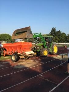campo da calcio prima dei lavori
