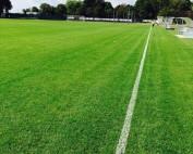 Campo da calcio dopo i lavori