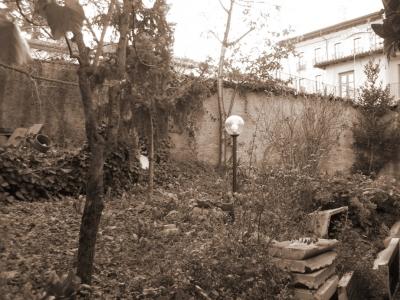 Giardino a balze prima dei lavori