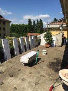 Terrazzo durante i lavori di ristrutturazione